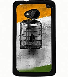 ColourCraft Cage Design Back Case Cover for HTC ONE M7
