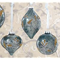 Swirl Patterned Glass Ornament (Pack Of 12)