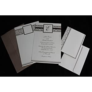 Champagne Monogram 25 Count Invitation Kit