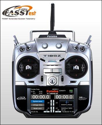 フタバ 18SZ (R7008SB付、T/R)18ch 2.4GHzプロポ(マルチコプター用フルスプリング仕様)