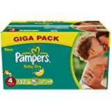 Pampers Baby Dry Pañales Tamaño 4 Maxi 7-18 kg x 132 Formato Gigapack