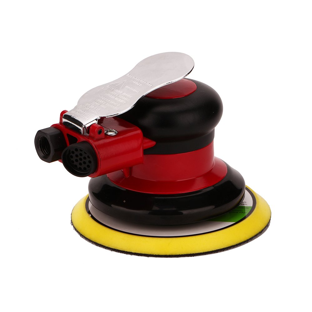 Professional Air Random Orbital Palm Sander, Dual Action Pneumatic Sander, Low Vibration, Heavy Duty