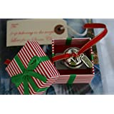 silver i believe santa father christmas polar express style jingle bell in box gift