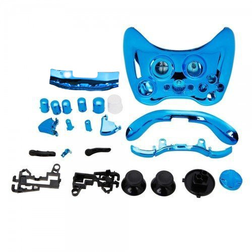 SODIAL(R) Blue Chrome Custom Wireless Controller Replacement Shell Case Kit for Xbox 360 (Xbox 360 Controller Blue Chrome compare prices)