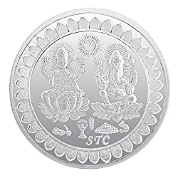 BIS HALLMARKED 99.5 Silver Purity 5 Gram Laxmi Ganesh Silver Coin For Gifting