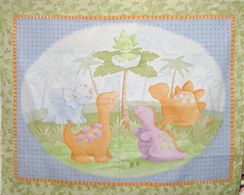 """43"""" Wide Cathy Heck Cute A Saurus Cotton Fabric By The Panel front-690577"""