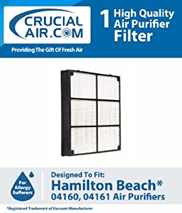 Crucial Air Hamilton Beach HEPA Filter Designed To Fit Hamiton Beach TrueAir Air Purifier Models 04160, 04161, 04150; Compare To Hamilton Be at Sears.com