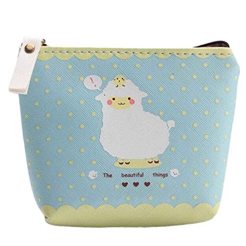 kingkor-women-wallet-waterproof-zipper-pencil-case-cute-portable-key-coin-purse-makeup-bag-blue