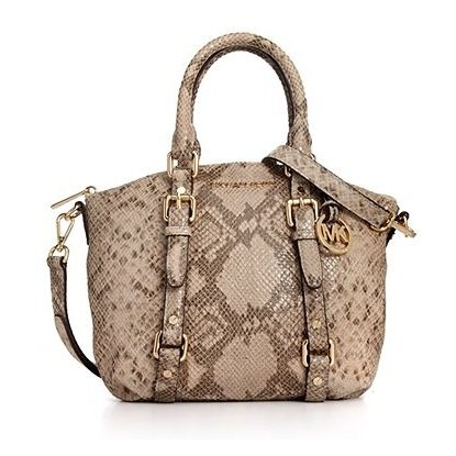 Michael Michael Kors Handbag, Bedford Python Print Small Satchel
