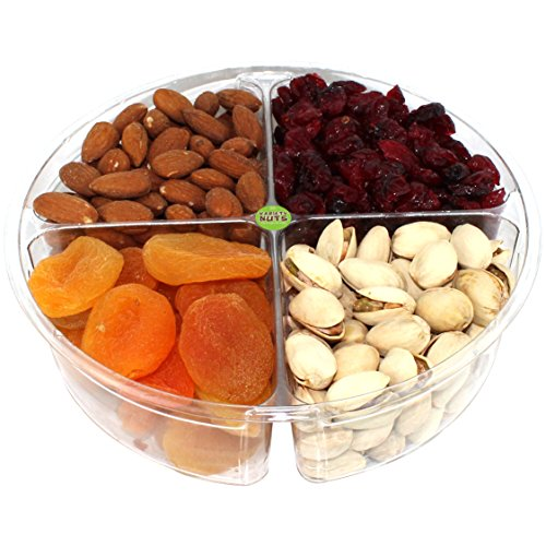 Premium Gourmet Nuts & Dried Fruits Gift Basket, Assorted Tray Fresh and Roasted.