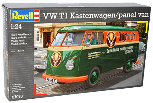 VW-Volkswagen-T1-Transporter-Kastenwagen-Jgermeister-07076-Bausatz-Kit-124-Revell-Modell-Auto