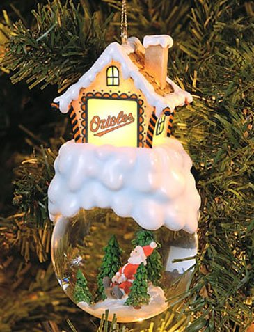 Baltimore Orioles Home Sweet Home Snowglobe Ornament at Amazon.com