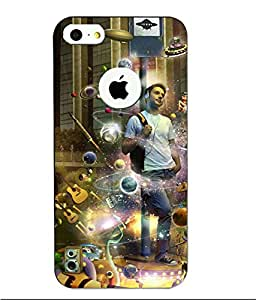 Make My Print Printed Multicolor Hard Back Cover For Apple Iphone 5/5S