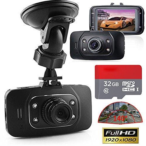 "Mini 2.7"" Full HD 1080P Auto Kamera DVR Recorder TFT LCD Camcorder car Video LED Überwachungskamera Advanced Portable Car Camcorder Dashcam nachtdicht rekorder HD Chipset Novatek 96220 mit 32 GB High Speed Class 10 micro SD/TF Karte"