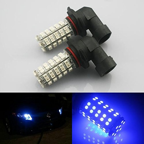 Partsam 2x Ultra Blue 9140 9145 9050 H10 9005 LED bulbs for Fog Driving Light DRL Running Light 68-3528-SMD High Power Car Led Projector Lens Shockproof Vibration Resistant Lamps (Led Fog Light Bulb 9140 compare prices)