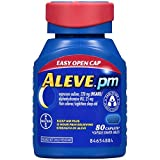 Aleve PM with Easy Open Arthritis Cap, Caplets with Naproxen Sodium, 220mg (NSAID) Pain Reliever/Fever Reducer/Sleep Aid, 80 Count (Tamaño: 80 count)