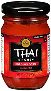 Thai Kitchen Red Curry Paste, 4-Ounce Jars (Pack of 12)