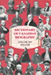 Dictionary of Canadian Biography: Vol...