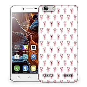 Snoogg Pink Dog Designer Protective Phone Back Case Cover For Lenovo K5 Vibe