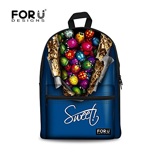 Blue Children Backpack Casual Bookbag