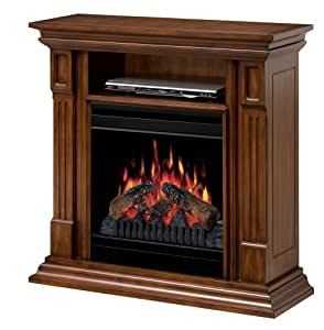 Dimplex Deerhurst Electric Fireplace Burnished Walnut Kitchen Home