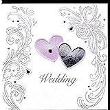 Edle Glückwunschkarte zur Hochzeit von Koko Designs mit Prägung