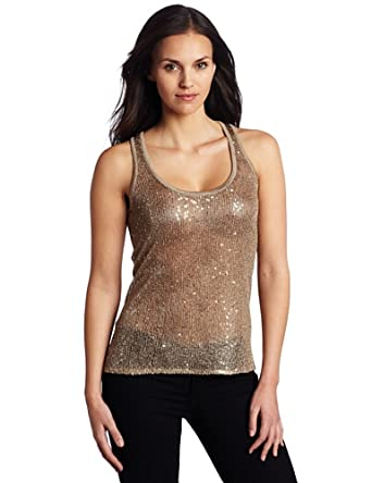 Willow & Clay Women's Sequin Tank Top, Harvest, Small