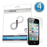 Infinite Products Quasar Screen Protectors for iPhone 4 / 4S (4 Pack) DIAMOND ~ Infinite Products