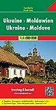 Ucrania-Moldavia, mapa de carreteras. Escala 1:1.000.000. Freytag & Berndt. (Auto karte)
