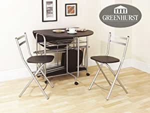Folding dining set drop leaf table and chairs butterfly dining table with four folding dining - Drop leaf table and chairs uk ...