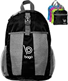 Travel Backpack Daypack - Lightweight Traveling Packable Air Hero - 25L (BLACK)