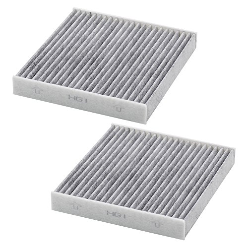 Kootek 2 Pack Car Cabin Air Filter Replacement for CF10285 with Active Carbon for Toyota / Lexus / Scion / Subaru, against Bacteria Dust Viruses Pollen Gases Odors, Replacement for CF10285