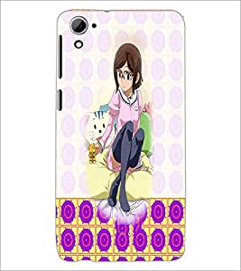 PrintDhaba Cute Girl D-2932 Back Case Cover for HTC DESIRE 826 (Multi-Coloured)
