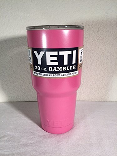 YETI Coolers 30 oz Rambler Stainless Steel Tumbler Powder Coated Colors (Pink)