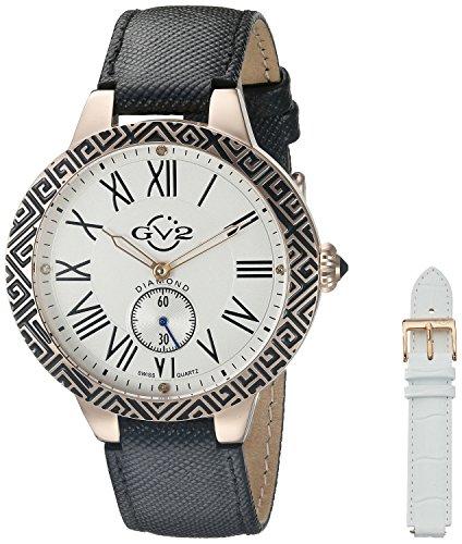 GV2 by Gevril Women's 9125 Astor Enamel Analog Display Quartz Black Watch