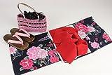 ブランド浴衣(SweetLily)作り帯(日本製)下駄かご巾着4点セットYRB-17
