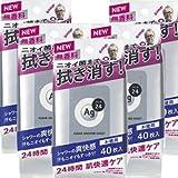 【5個】資生堂エージーデオ24 クリアシャワーシート NA 無香料 40枚×5個 (4901872443918)
