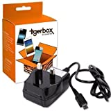 Tigerbox Brand Micro USB UK Mains Wall Charger For Amazon Kindle 1 / 2 / 3 / Keyboard 3G / 4, Kindle Touch, Kindle Fire, Kindle Fire HD, Kindle Paperwhite