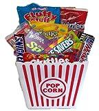 Movie Night Popcorn Treats & Goodies Gift Basket Tub