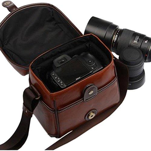 Topixdeals Vintage Look Britpop DSLR Waterproof Camera Bag for Canon Nikon Sony Pentax Red Brown 2