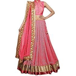 Khazanakart Women's Cotton Lehenga (Pink_Free Size)