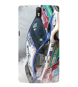 Race car Back Case Cover for One Plus One::One Plus1