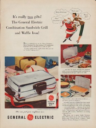 """1952 General Electric Ad """"Two Gifts"""""""