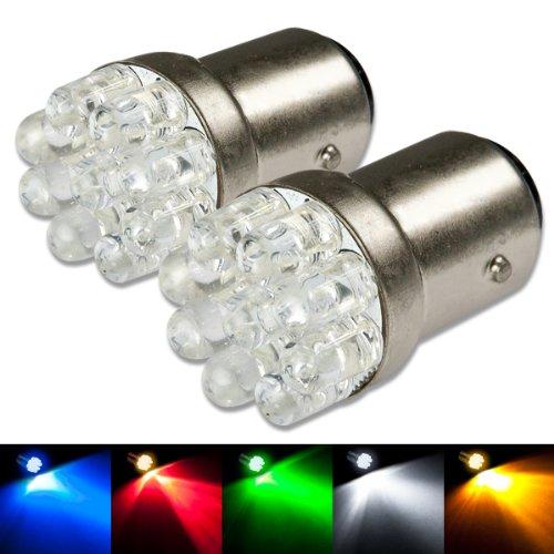 1156 Ba15S 9-Led Blue Light Bulb Pack Of 2