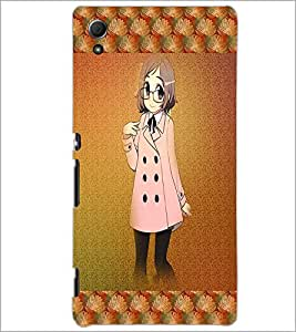 PrintDhaba Studious Girl D-4585 Back Case Cover for SONY XPERIA Z4 (Multi-Coloured)