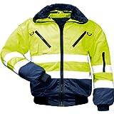 Warnschutz-Piloten-Jacke Arbeits-Jacke - EN 471 Klasse 3 - 4 in 1 Funktion - mehrere Farben