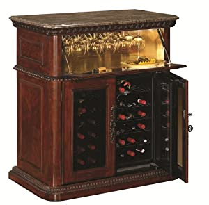 Amazon Com Rutherford Wine Cabinet In Vintage Cherry