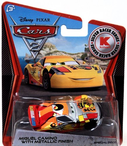 Disney PIXAR Cars 2 Miguel Camino With Metallic Finish Silver Racer Series