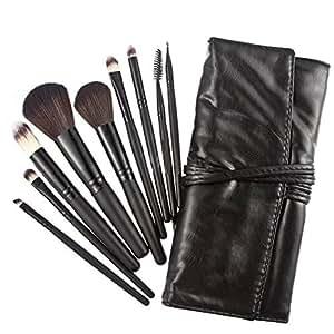 Teenxful Top High Quality 9PCS Professional Cosmetic Makeup Brush Set Kit Tools Black