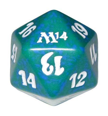 MTG Spindown D20 Life Counter - M14 Magic 2014 Green